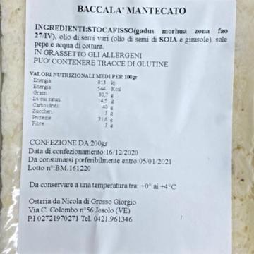 Baccalà Mantecato vaschetta 200gr